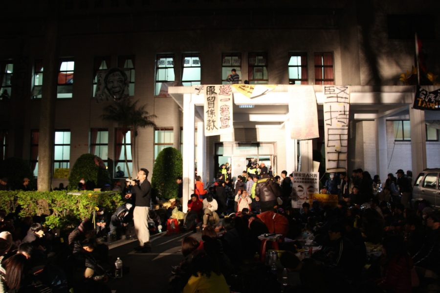 Students Take Over the Legislative Yuan in Protest Against China Trade Deal