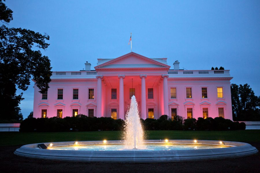The+North+Portico+exterior+of+the+White+House+is+illuminated+pink+in+honor+of+Breast+Cancer+Awareness+Month%2C+Oct.+1%2C+2012.+%28Official+White+House+Photo+by+Sonya+N.+Hebert%29