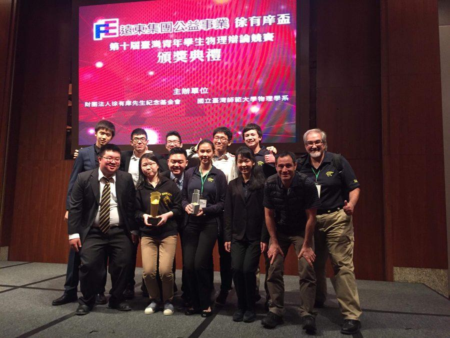 Club competes in Taiwan Young-Student Physicists' Tournament