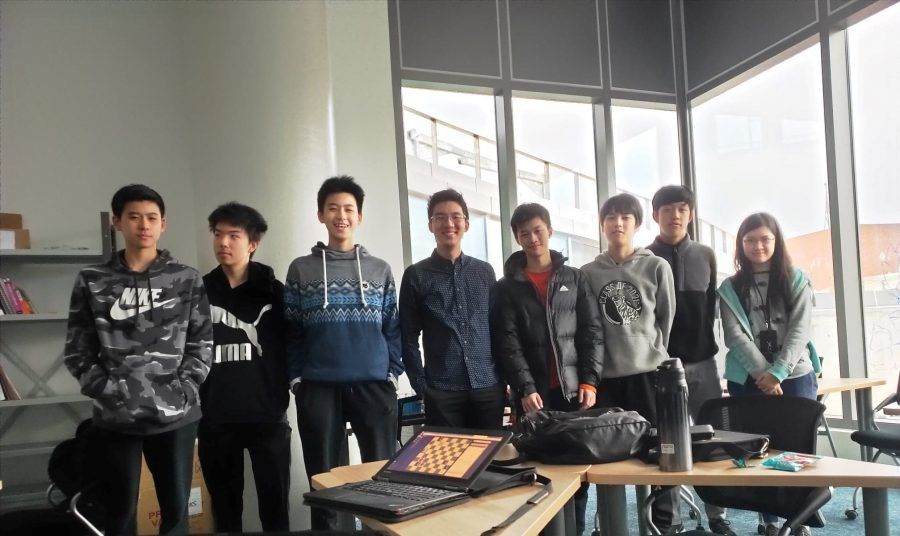 This year's IASAS chess players at the Tech Cube. [Photo courtesy of TAS Chess Club]