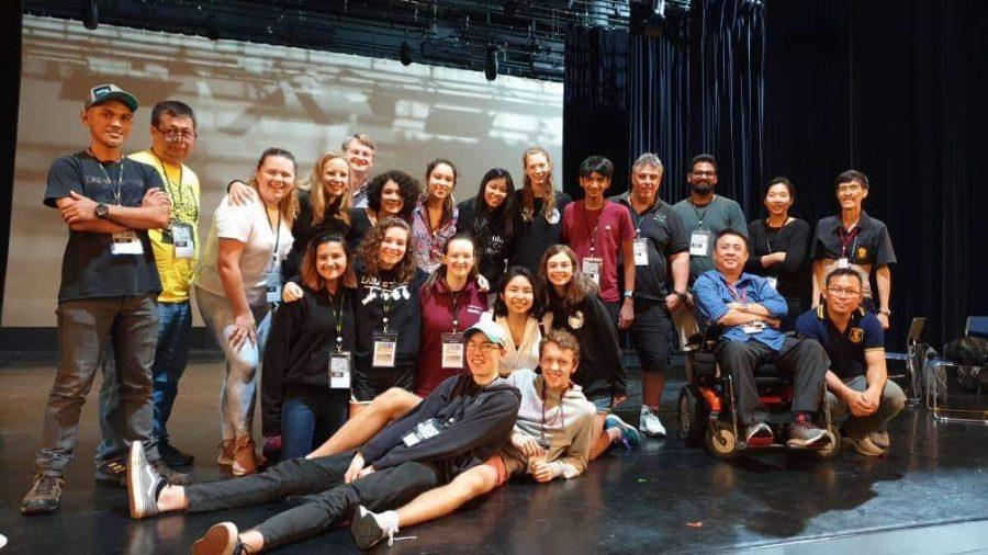 The IASAS Tech delegates of 2019 pose at International School of Bangkok.
