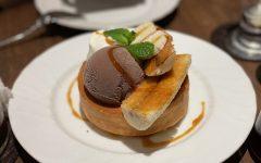 Featuring Hoshino Coffee's seasonal fluffy souffle-style pancake with bananas. [KATHERINE MA/THE BLUE & GOLD]