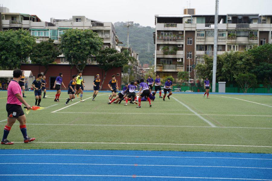 On Nov. 12, the varsity boys rugby team played against two local schools, winning their game against Luodong Senior High, 48-0.  [MAYA KAPOOR/THE BLUE & GOLD]