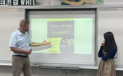 Dr. Long, Dean of Students at Taipei American school teaches a History of Asia class. [ASHLEY T/THE BLUE & GOLD]